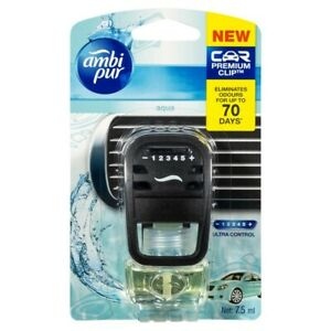Ambi Pur Premium Clip Aqua Car Air Freshener 7.5mL