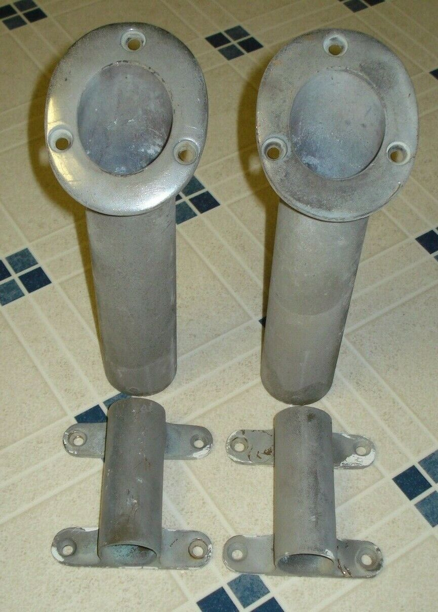 Pair of Aluminum Boat Rod Holders & Outrigger Holders   excellent prices