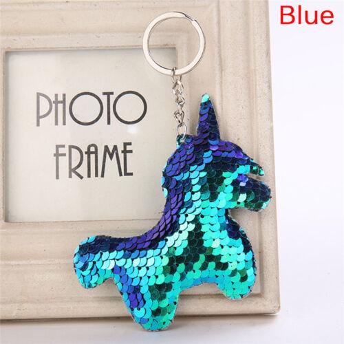 Mermaid Sequins Keychain Bag Accessories Handbag Pendant Horse Keyring FashioJMD