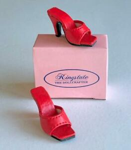 Shoes-Sandals-for-16-034-Tyler-Gene-Dolls-Slip-on-Kingstate-Red-New-in-Box
