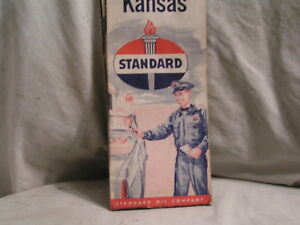 1956 Kansas carte routière de STANDARD OIL Colorado-afficher le titre d`origine fpoilvdj-09165136-634184863