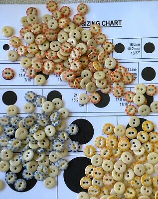 "China Stencil Buttons 7-9//16/"" 18L-22L buttons **Lot of 24 pc* Royal Blue /""Petal/"""
