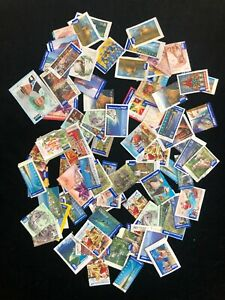 75x-International-Australian-Post-Stamps-Used-On-amp-Off-Paper-Mixed-Values