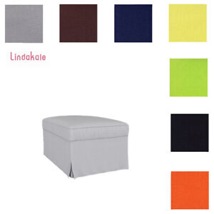 Custom-Made-Cover-Fits-IKEA-Ektorp-Footstool-Replace-Ottoman-Cover-39-Fabrics