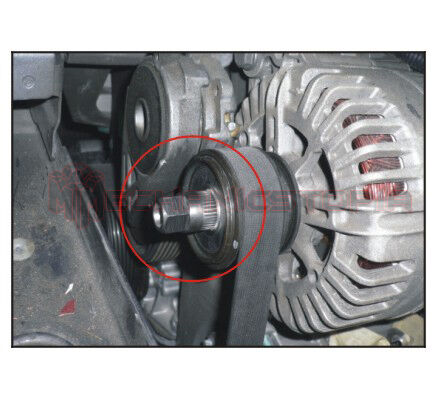 VW VAG Alternator Clutch Free Wheel Pulley Removal Wrench 33 Teeth Splines Tool