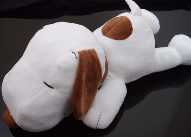 Authentic Japan Peanuts Snoopy dog Sitting Plush Stuffed Animal Doll Cute Rare