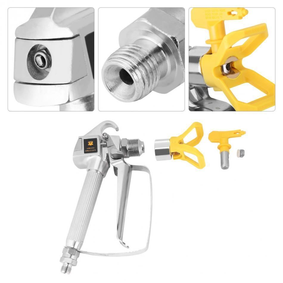 Airbrush Painting Tool High Pressure 3600psi Air less Paint Spray Gun with Nozzl