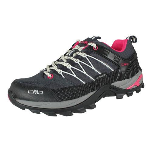 CMP Campagnolo Femmes Bateau Barrette Low WP Trekking Chaussures Étanche Gris Blanc