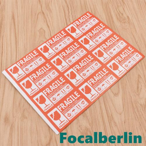 Etiketten tickers FRAGILE Handle With Care Vorsicht Zerbrechlich Beste Chic 50x