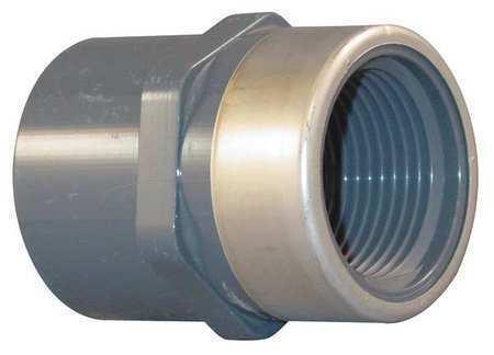 """SPEARS 835-015SR 1-1//2/"""" Socket x FNPT PVC Stainless Steel Adapter"""