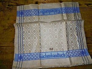 1-LEINEN-Geschirrtuecher-KUCHENTUCH-Wischtuch-Monogram-G-K-108x48cm