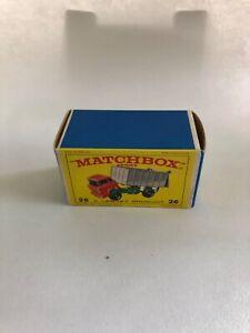 Matchbox-Lesney-26-GMC-Volquete-Camion-Tipo-E-Vacia-Caja-Original-solo