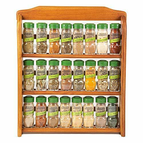 Mccormick Gourmet Organic Wood Spice Rack 24 Herbs Spices 3 Tier Organizer For Sale Online Ebay