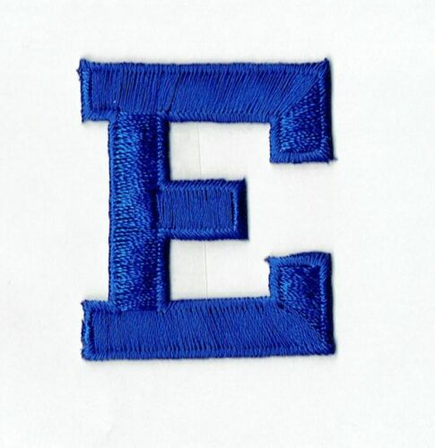 """ROYAL BLUE 2/"""" Alphabet//Letters your choice Iron on Applique//Embroidered Patch"""