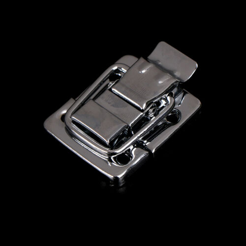 Silver Fastener Toggle Latch Catch Chest Case Suitcase Boxes Chests Trunk Lock L