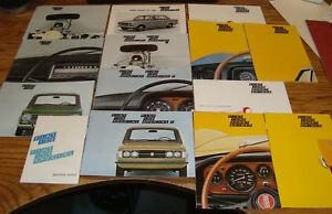 Original-1973-Fiat-124-Sales-Brochure-Lot-of-14-73-Sport-Coupe-Spider-Special