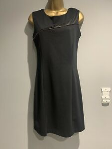 Womans-Sabrina-Diamanti-Black-Zip-Pencil-Wiggle-Dress-Workwear-Medium-Size-10