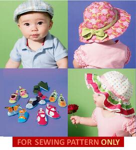 SEWING PATTERN! MAKE BABY HATS~SHOES! INFANT BOY~GIRL! 6 FUN STYLES ... e7956902e30