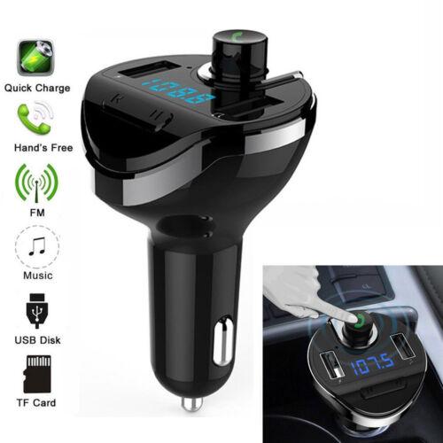 BT Car FM Transmitter Wireless Radio Adapter USB Charger Mp3 Player High Speed