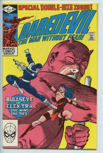 1982 MARVEL DAREDEVIL #181 DEATH OF ELECTRA NEAR MINT 9.4  A1