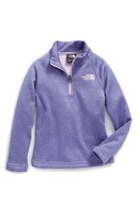 73368f487 Details about The North Face Youth Girl's Agave 1/4 Zip Fleece Pullover  sweatshirt