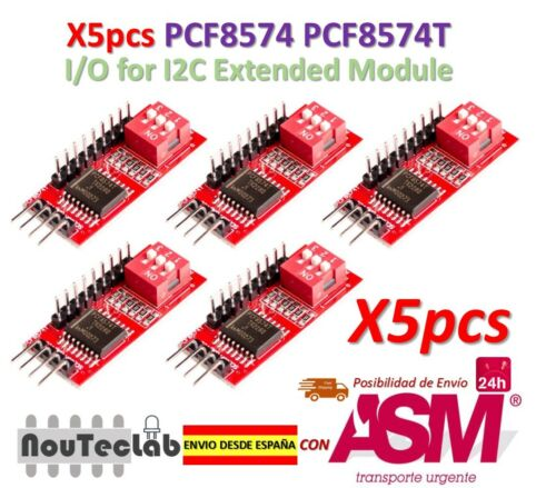 5pcs PCF8574 PCF8574T I//O for I2C IIC Port Interface Cascading Extended Module