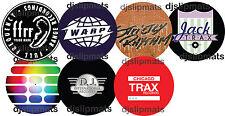 "PAIR (2) CLASSIC HOUSE LABELS  12"" DJ SLIPMATS slipmat acid house rave techno ."