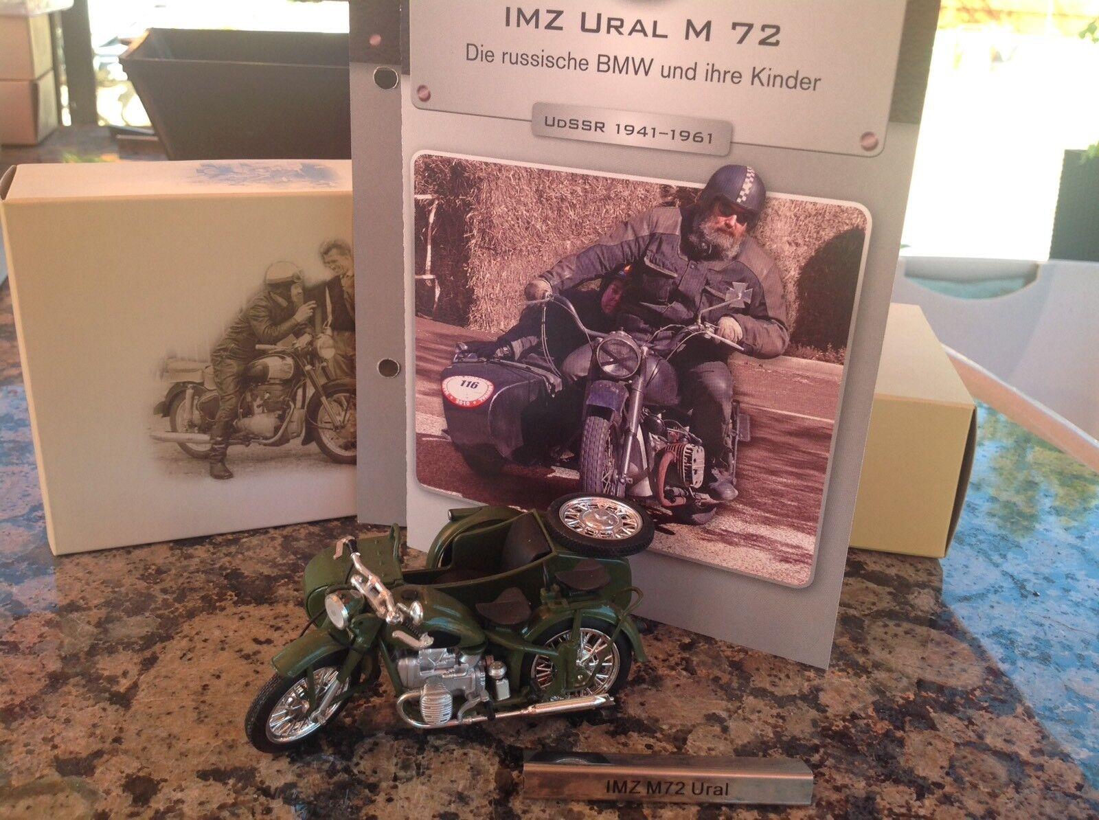 IMZ M72 Ural Motorrad Beiwagen grün DDR 1:24 ATLAS 7168121 NEU OVP LA2 µ  *