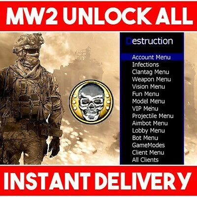 Call of Duty Modern Warfare 2 MW2 Recovery Mod | Max Prestige - XBOX ONE &  360 | eBay
