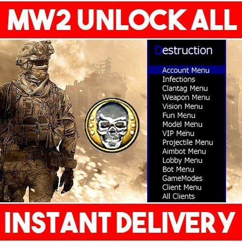 Call of Duty Modern Warfare 2 récupération MW2 mod | Max Prestige-Xbox One & 360