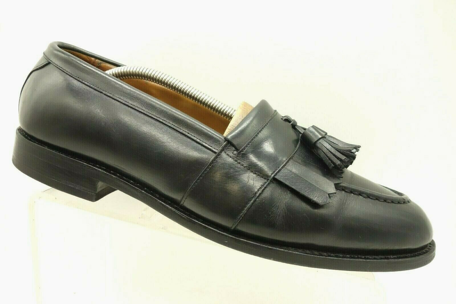 Allen Edmonds Black Leather Casual Tassel Kilt Slip On Loafers shoes Mens 10.5 E