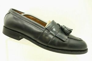 Allen-Edmonds-Black-Leather-Casual-Tassel-Kilt-Slip-On-Loafers-Shoes-Mens-10-5-E