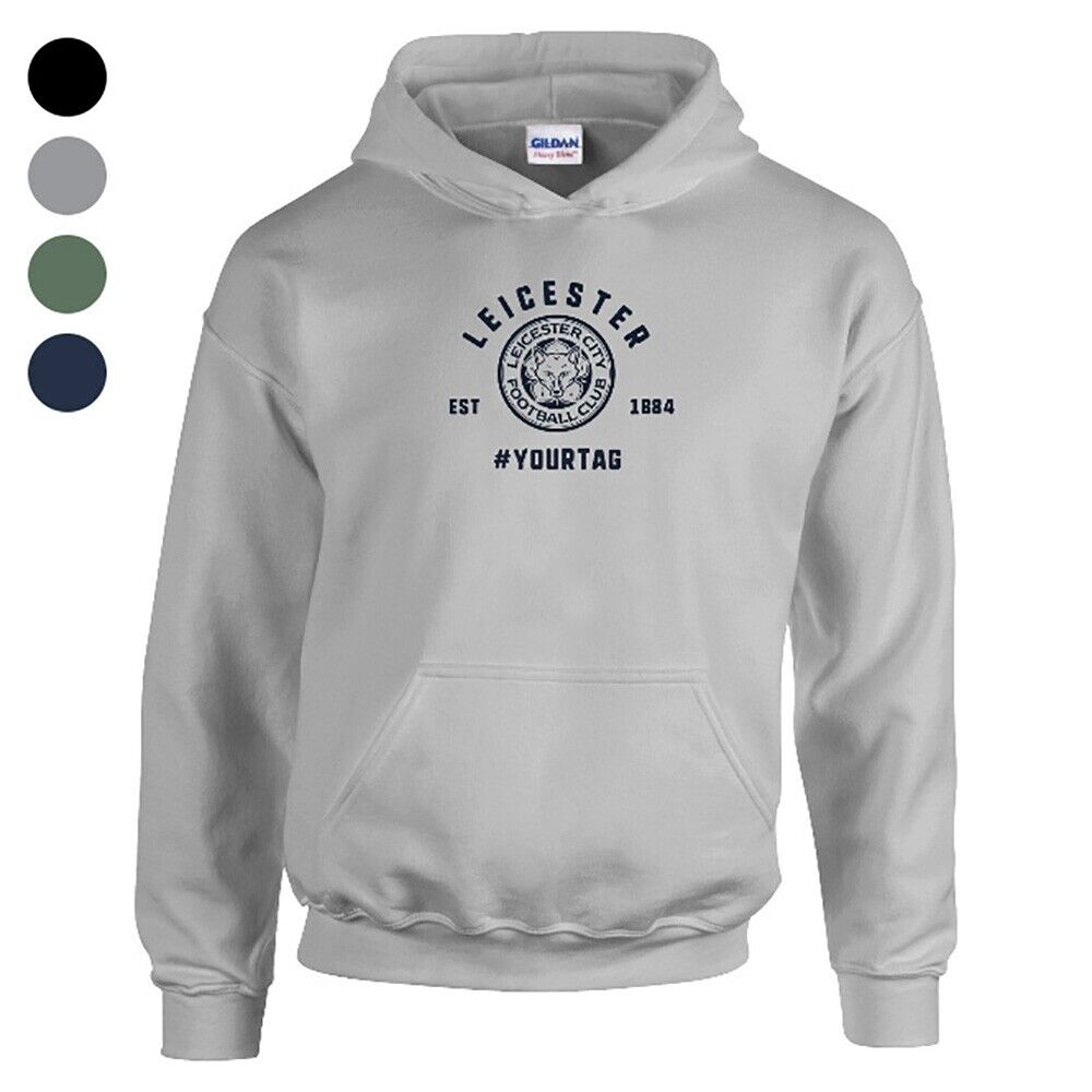 Leicester City F.C - Personalised Mens HOODIE (VINTAGE #)