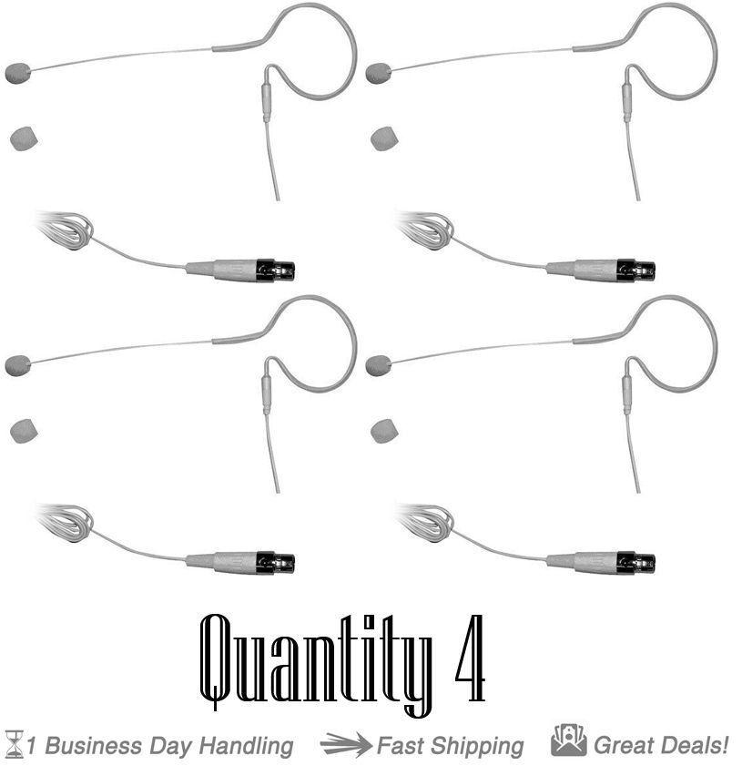 Lote de (4) - PYLE PMEMS PMEMS PMEMS 10 In-Ear Mini Xlr Omni-Sistema Micrófono Mic para Shure e77f8d