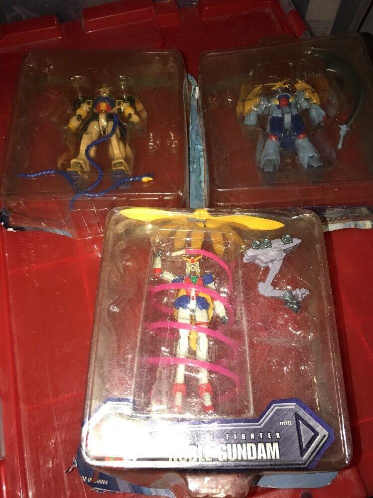 Bandai G Gundam Mobile Fighter noble Gundam-Scimitar figura 3pc Lote Raro