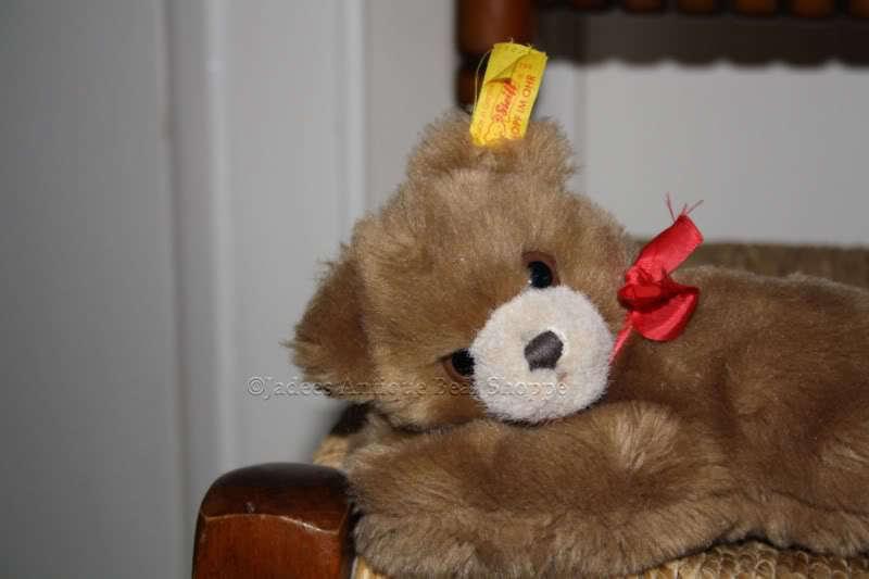 Steiff Floppy Bear Bear Bear 082108 1991 20 cm rot Bow bf8b53