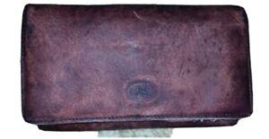 THE-BRIDGE-Vintage-Italy-Genuine-Leather-Long-Mens-Wallet-Organiser