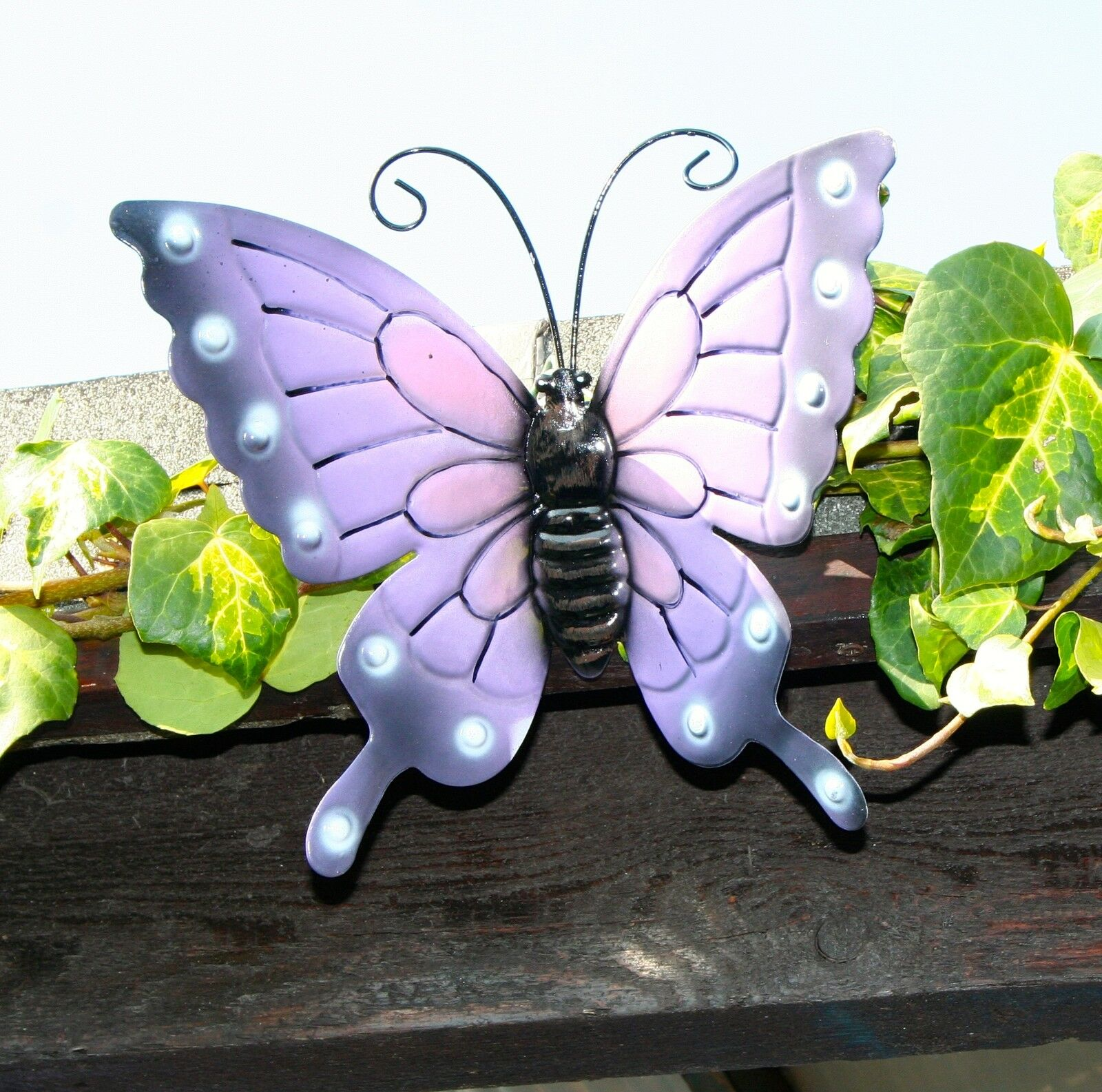Butterflies Coloured Outdoor Large Metal Butterfly Garden Fence 16 2 New Decorations Pink Blue Ebay