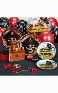 PIRATE-CHILD-BOYS-BIRTHDAY-PARTY-PACK-SUPPLIES-DECORATIONS-BALLOONS-PLATES