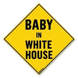 Anti-Trump-Baby-In-White-House-Bumper-Sticker-5-034-x-5-034-Car-Truck-Vinyl-Decal