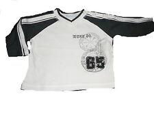 Mexx tolles leichtes Sweat Shirt Gr. 68 weiß-anthrazit !!
