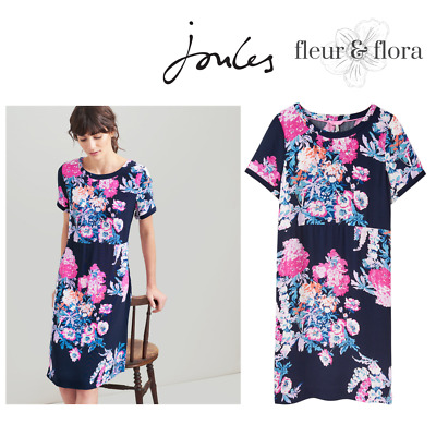 RRP £59.95 BRAND NEW. JOULES LADIES GORGEOUS FLORAL Leila Dress UK Size 10