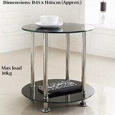 Stylish New York Signature Round Side Table Max load 30kg - Black