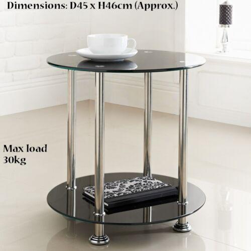 30kg-noir Élégant new york signature round side table charge max
