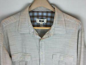 Joseph-Abboud-Mens-Long-Sleeve-Convertible-Shirt-Size-2XLT-Brown-White-Blue