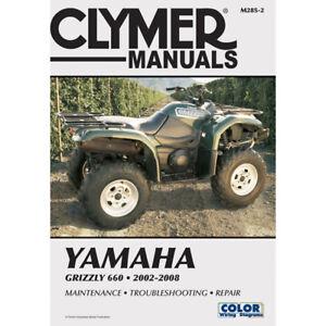 clymer m285 2 service shop repair manual yamaha grizzly 660 2002 rh ebay com 2008 Yamaha Grizzly 660 660 Grizzly Maintenance