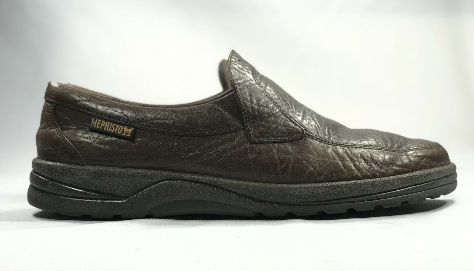 Scarpe casual da uomo  MESPHISTO AIR-JET 100% Caoutchouc Textured Leather uomo Slip On Loafers US 10