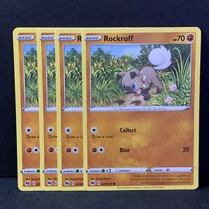 Pokemon Cards 4x Rockruff 029/073 Playset Champion's Path