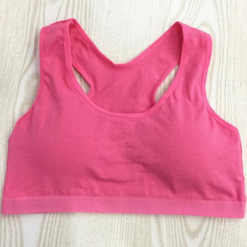 Kids young girls bras underwear baby vest sport training teenager bra SP ON