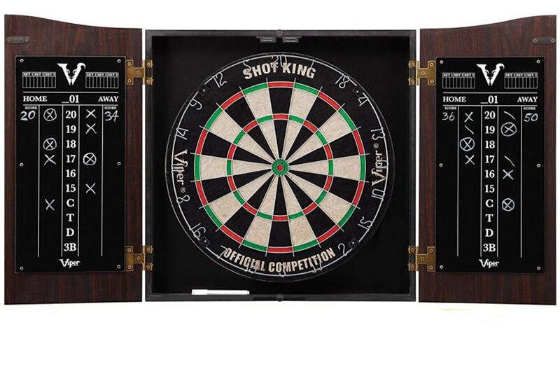aa4d60feff1 Premium 42 Man Game Room Dartboard Cabinet LED Wood Dart Board Set w Darts  Cave nckhsz1712-Dart Boards